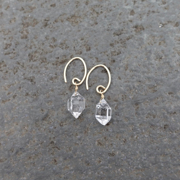 Herkimer Diamond Nugget Earrings- QUICK SHIP