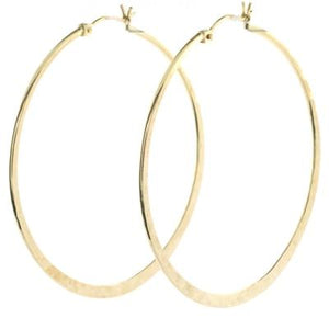 Large Textured Hoops- QUICK SHIP