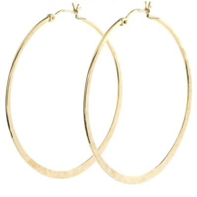 Round Sandalwood Hoops