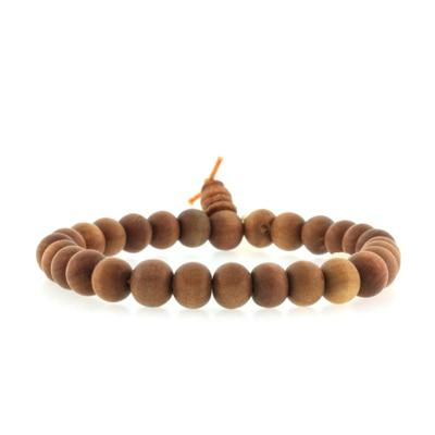 Small Bead Sandalwood Bracelet- QUICK SHIP
