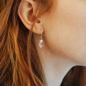 Herkimer Diamond Nugget Earrings