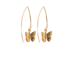 Rockless Butterfly Jewell Earrings