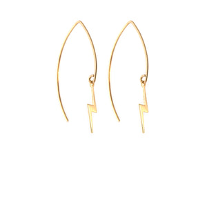 Rockless Lightning Bolt Jewell Earrings