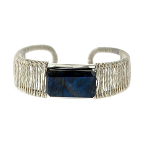 Rockstar 1-Stone Horizontal Twist Wrapped Cuff-Custom orders extended for holiday gifting!