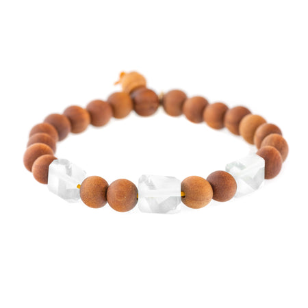 Large Bead Sandalwood Bracelet