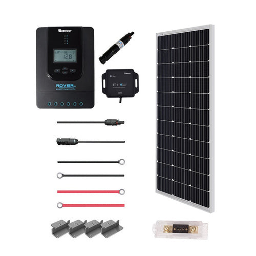 Renogy New 100 Watt 12 Volt Solar Premium Kit - Plug and Play Solar