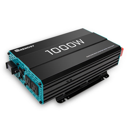 Renogy 1000W 12V Pure Sine Wave Inverter - Plug and Play Solar
