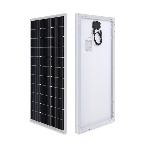 Renogy 100 Watt 12 Volt Monocrystalline Solar Panel (Compact Design) - Plug and Play Solar
