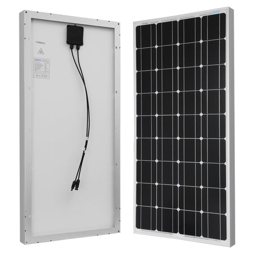 Renogy 100 Watt 12 Volt Monocrystalline Solar Panel - Plug and Play Solar