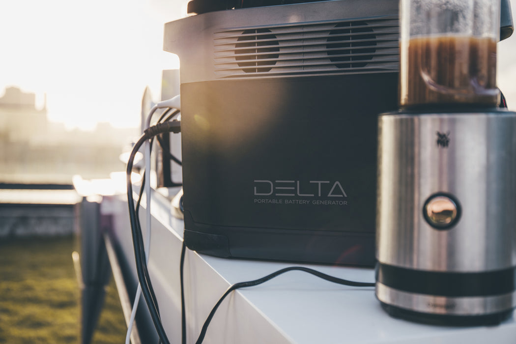 EcoFlow Delta 1300 Portable Solar Generator - Plug and Play Solar