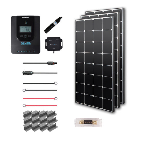 Renogy New 300 Watt 12 Volt Solar Premium Kit (Eclipse) - Plug and Play Solar