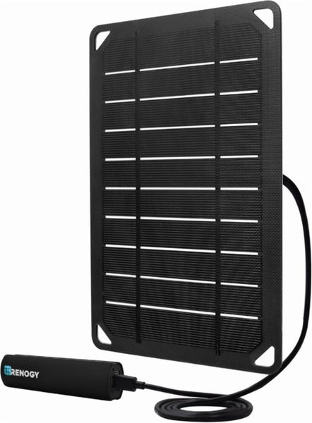 Renogy E.FLEX5 Monocrystalline Portable Solar Panel with 2500 mAh Power Bank