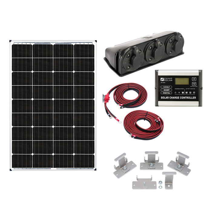 Zamp 115-Watt Deluxe Solar Kit - Plug and Play Solar