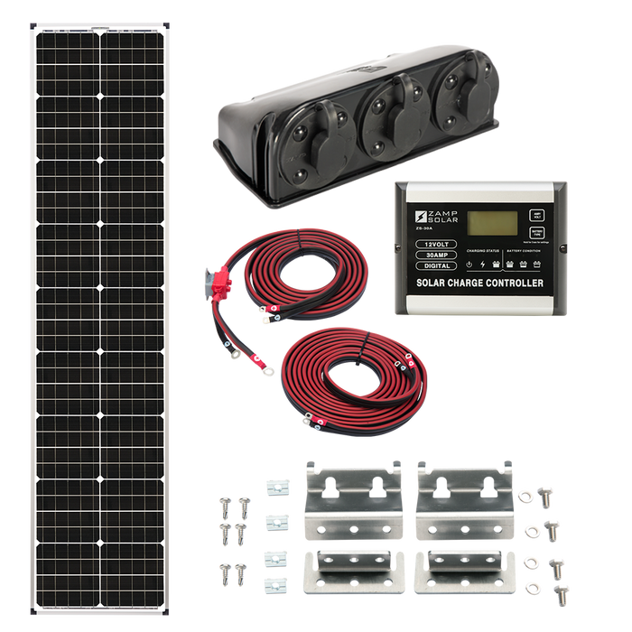 "Zamp 90-Watt ""L""ong Series Deluxe Solar Kit - Plug and Play Solar"