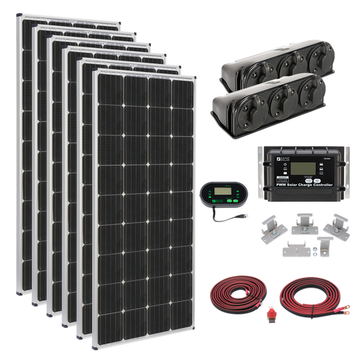 Zamp 1,020-Watt Deluxe Solar Kit - Plug and Play Solar