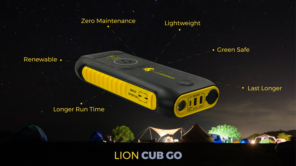 Lion Cub GO Handheld Solar Generator - Plug and Play Solar
