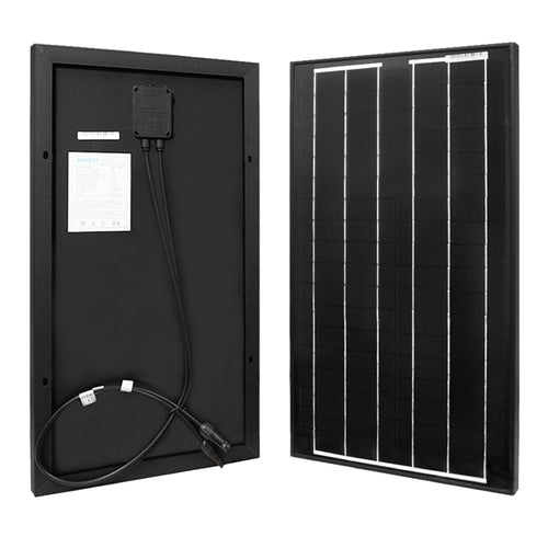 Renogy 30 Watt 12 Volt Monocrystalline Solar Panel - Plug and Play Solar