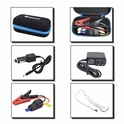Renogy 400A Peak 12000 mAh Portable Car Jump Starter - Plug and Play Solar