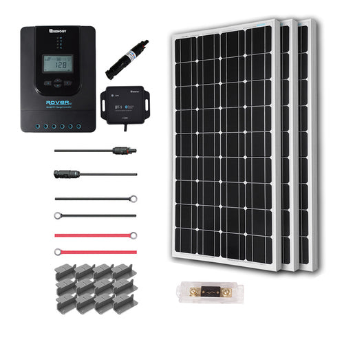 Renogy New 300 Watt 12 Volt Solar Premium Kit - Plug and Play Solar