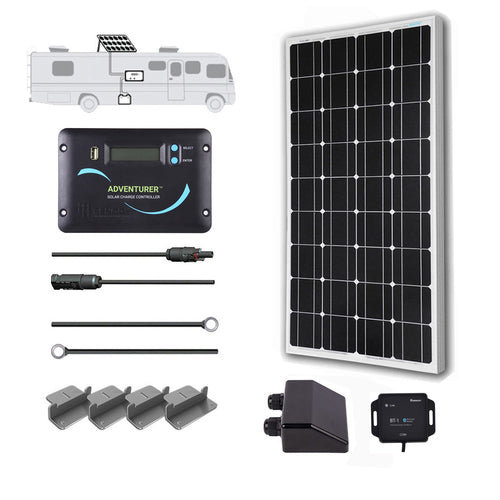 Renogy 100 Watt 12 Volt Solar RV Kit - Plug and Play Solar