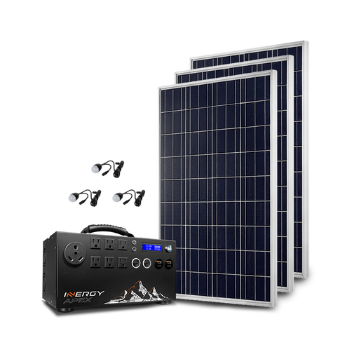 Silver Apex Solar Storm Kit - Plug and Play Solar