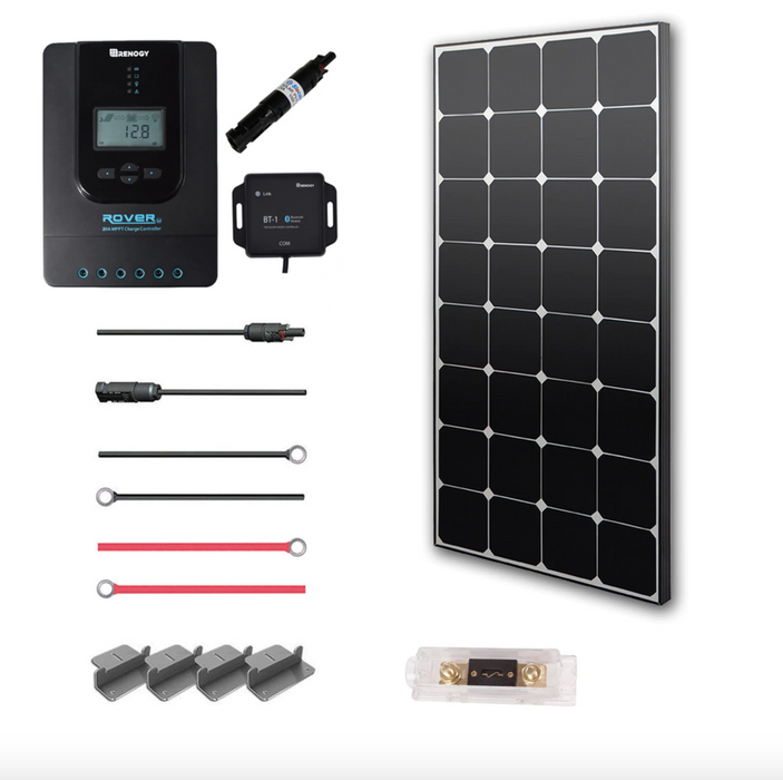 Renogy 100 WATT 12 VOLT SOLAR PREMIUM KIT (Eclipse) - Plug and Play Solar
