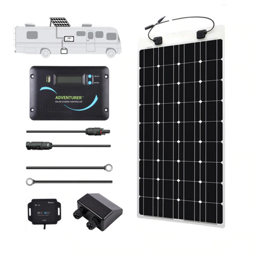 Renogy 100 Watt 12 Volt Flexible Solar RV Kit - Plug and Play Solar