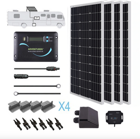 Renogy 400 Watt 12 Volt Solar RV Kit