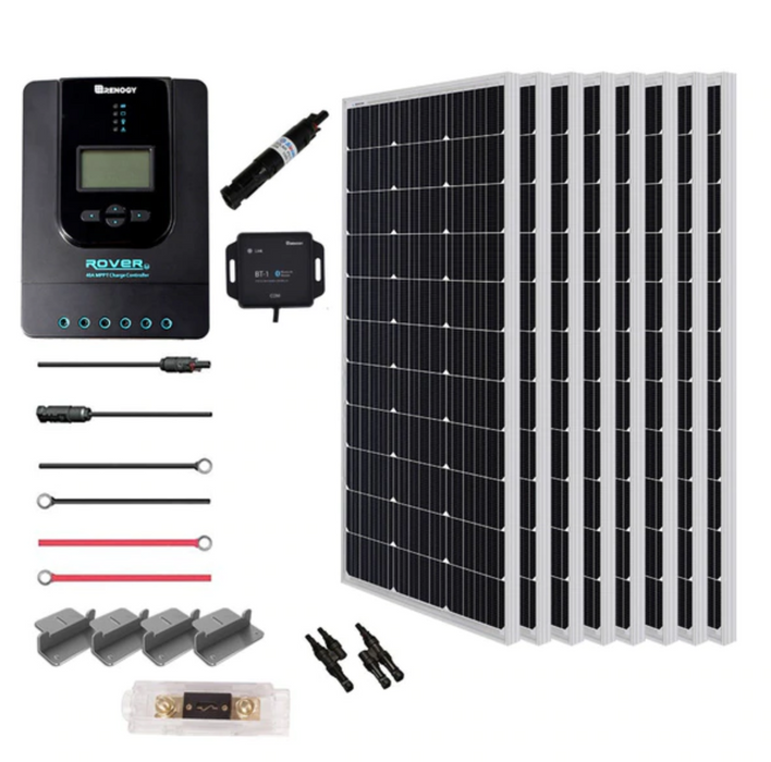 Renogy NEW 800 WATT 24 VOLT SOLAR PREMIUM KIT - Plug and Play Solar