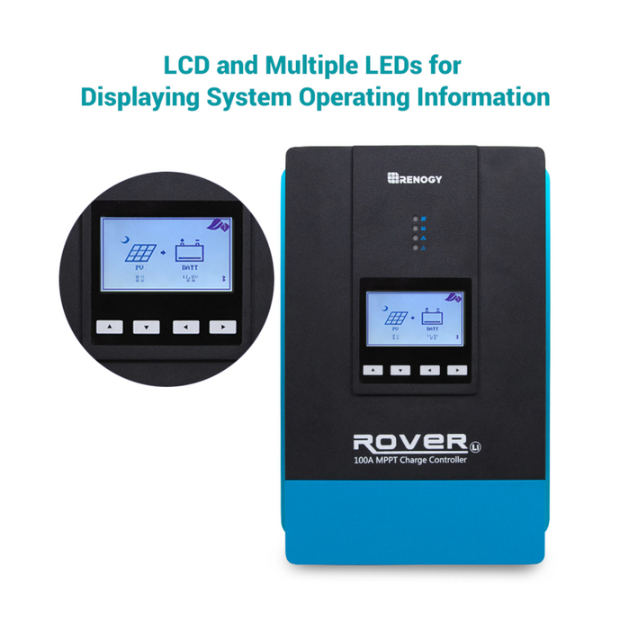 Rover Li 100 Amp MPPT Solar Charge Controller - Plug and Play Solar