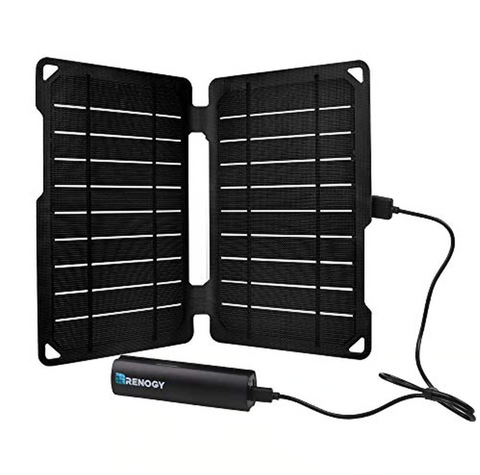 Renogy E.FLEX10 Monocrystalline Portable Solar Panel with 2500 mAh Power Bank