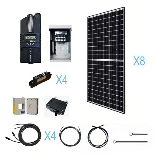 2500 Watt 48 Volt Monocrystalline Solar Kit - Plug and Play Solar