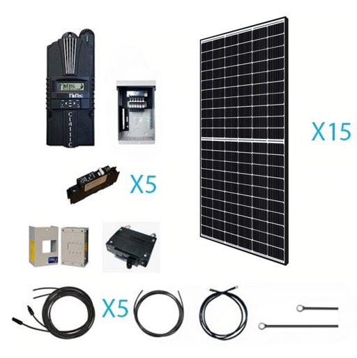4800 Watt 48 Volt Monocrystalline Solar Kit - Plug and Play Solar