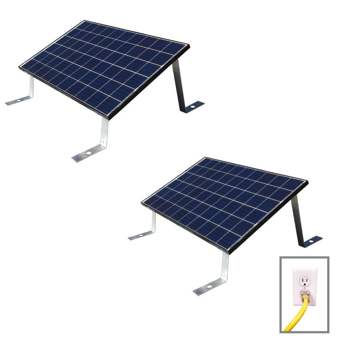 Grid Tied Plug In Ground Mount LEAD & ADD-ON Home Solar Kit - Plug and Play Solar
