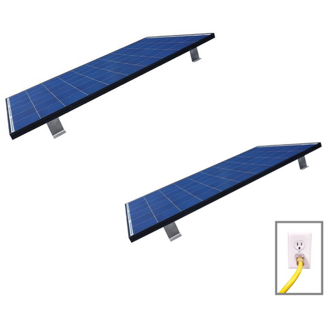Grid Tied Plug In Roof Mount LEAD & ADD-ON Home Solar Kit
