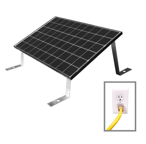 PREMIUM 600W Grid Tied Ground Mount Home Solar Kit (2x 300W Panels) - Plug and Play Solar