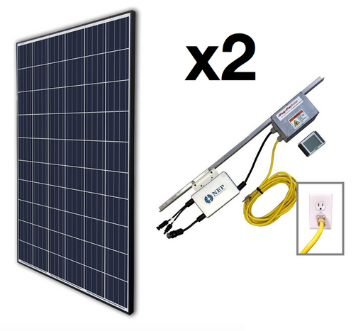 Plug In Ground Mount Lead & Add-On Solar Kit - Plug and Play Solar
