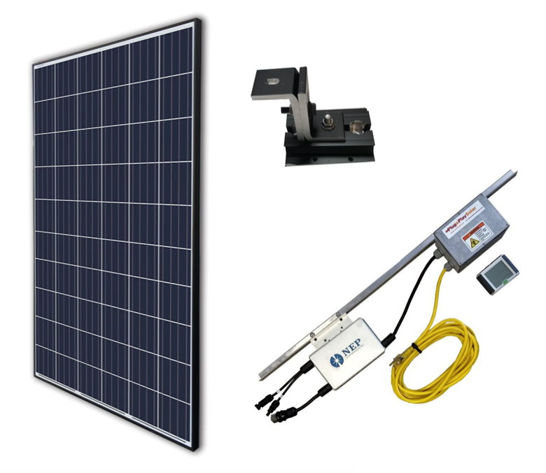Grid Tied Plug In Roof Mount LEAD Home Solar Kit - Plug and Play Solar
