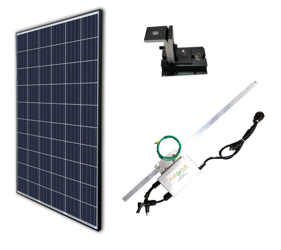 Plug In Solar Roof Mount Add On Kit Plug And Play Solar