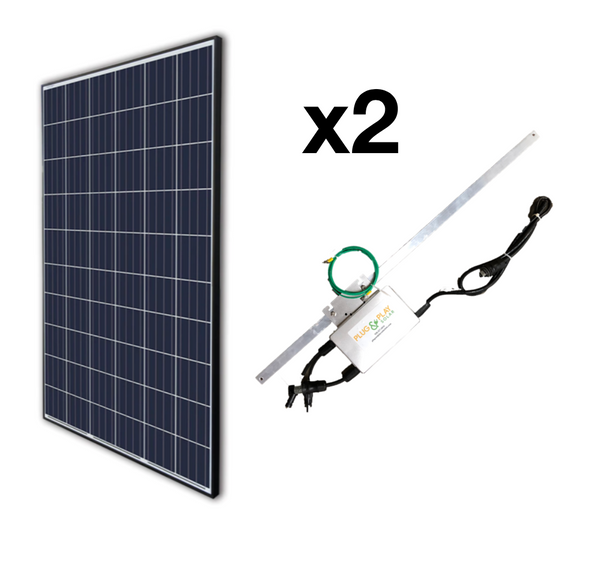 Plug In Ground Mount Add-On Solar Kits (2)