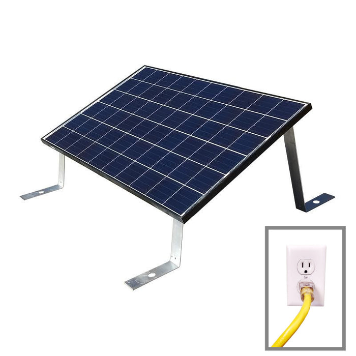 Grid Tied Plug In Ground Mount LEAD Home Solar Kit - Plug and Play Solar