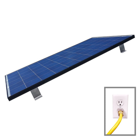 Grid Tied Plug In Roof Mount LEAD Home Solar Kit