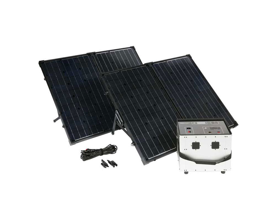 Humless .64kWh Go Mini Power Pack With Solar Panels Kit - Plug and Play Solar