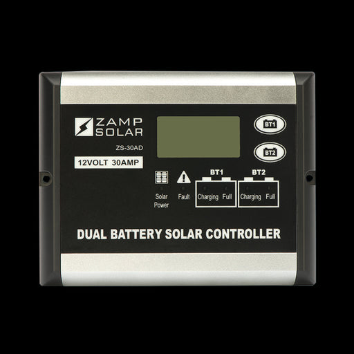 30 Amp 5-Stage Dual Battery Deluxe Digital PWM - Plug and Play Solar