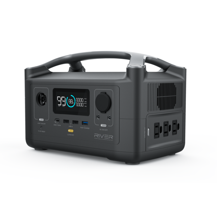 EcoFlow RIVER 600 Portable Power Station - Plug and Play Solar