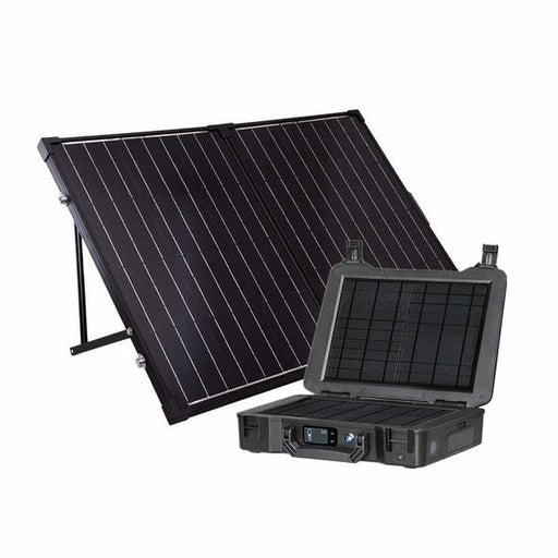 The Phoenix Generator + 100 Watt Monocrystalline Foldable Solar Suitcase Kit - Plug and Play Solar