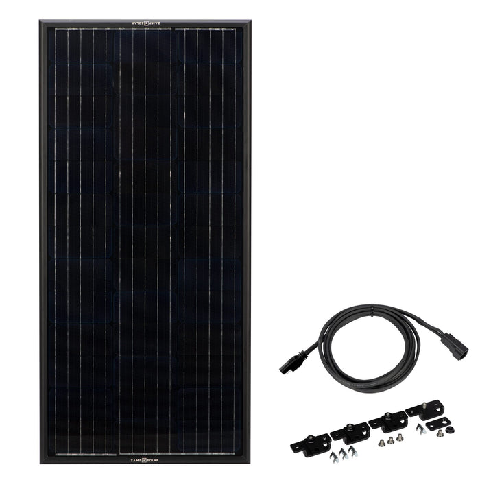 Obsidian 100 Watt Solar Panel Kit - Plug and Play Solar