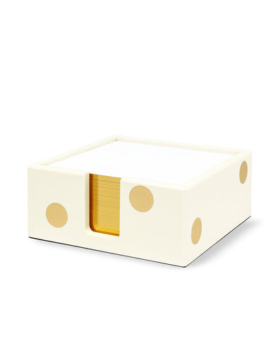 Kate Spade Gold Dot Acrylic Note Holder