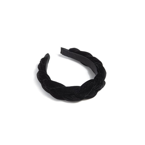 Black Chunky Braided Headband