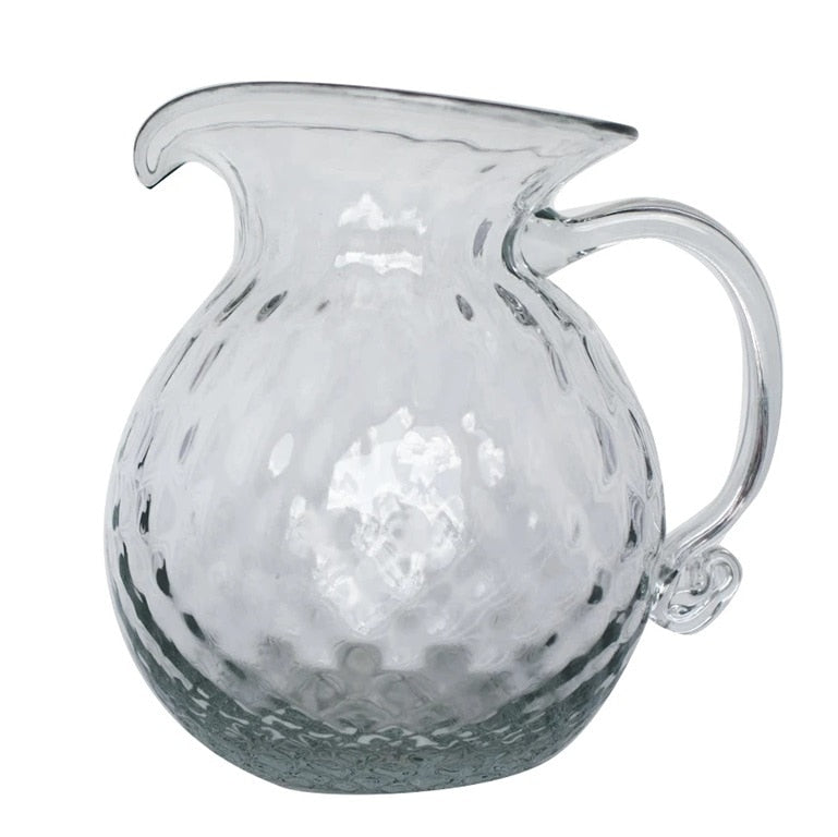 Blenko Glass Diamond Optic Pitcher